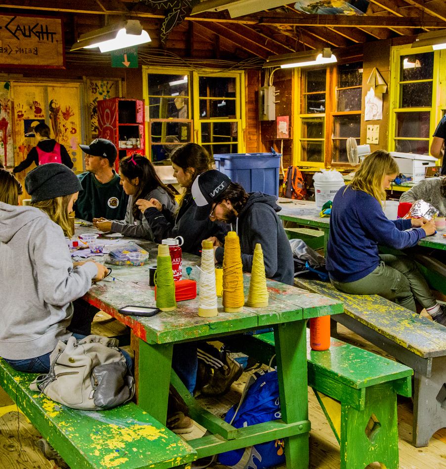 Arts & Crafts at Bark Lake Leadership Centre