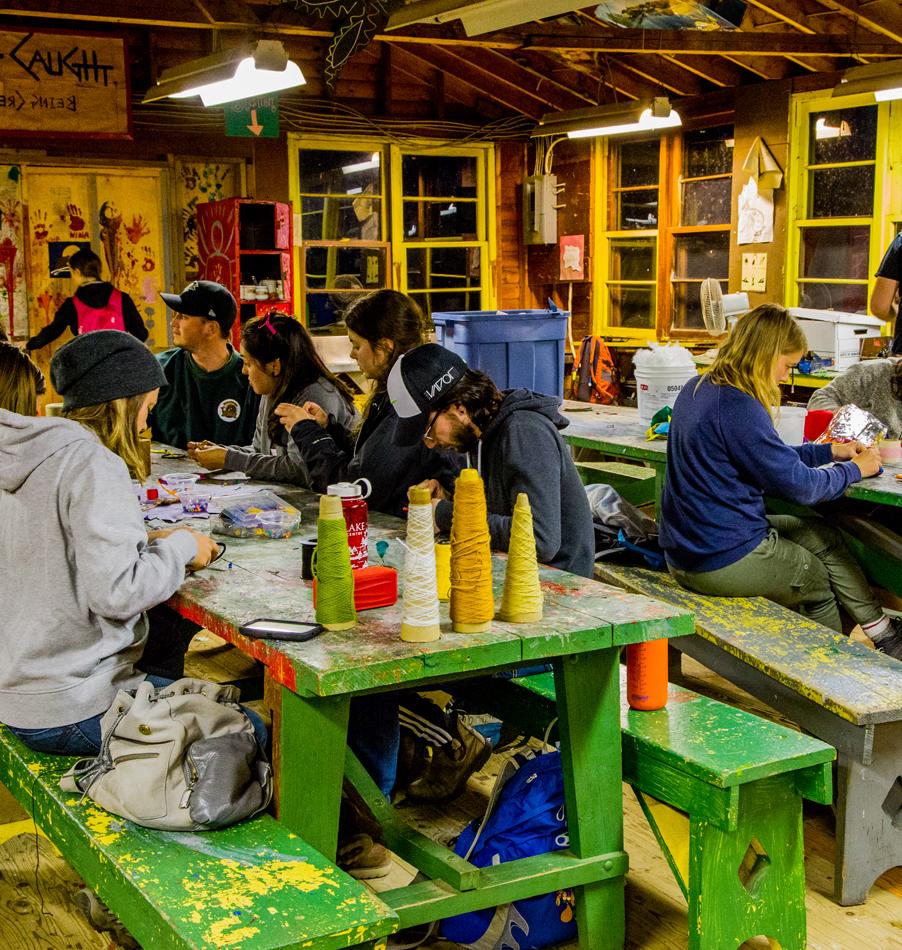 Arts & Crafts at Bark Lake Leadership Centre