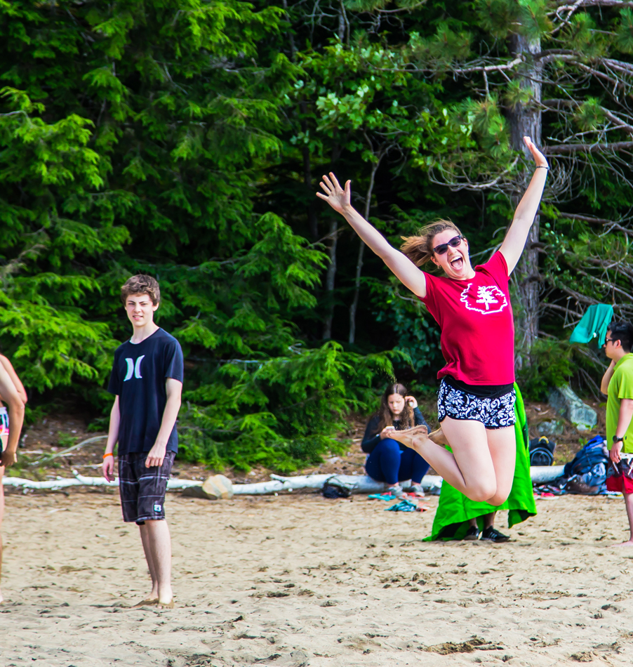 Beach Party at Bark Lake Leadership Centre