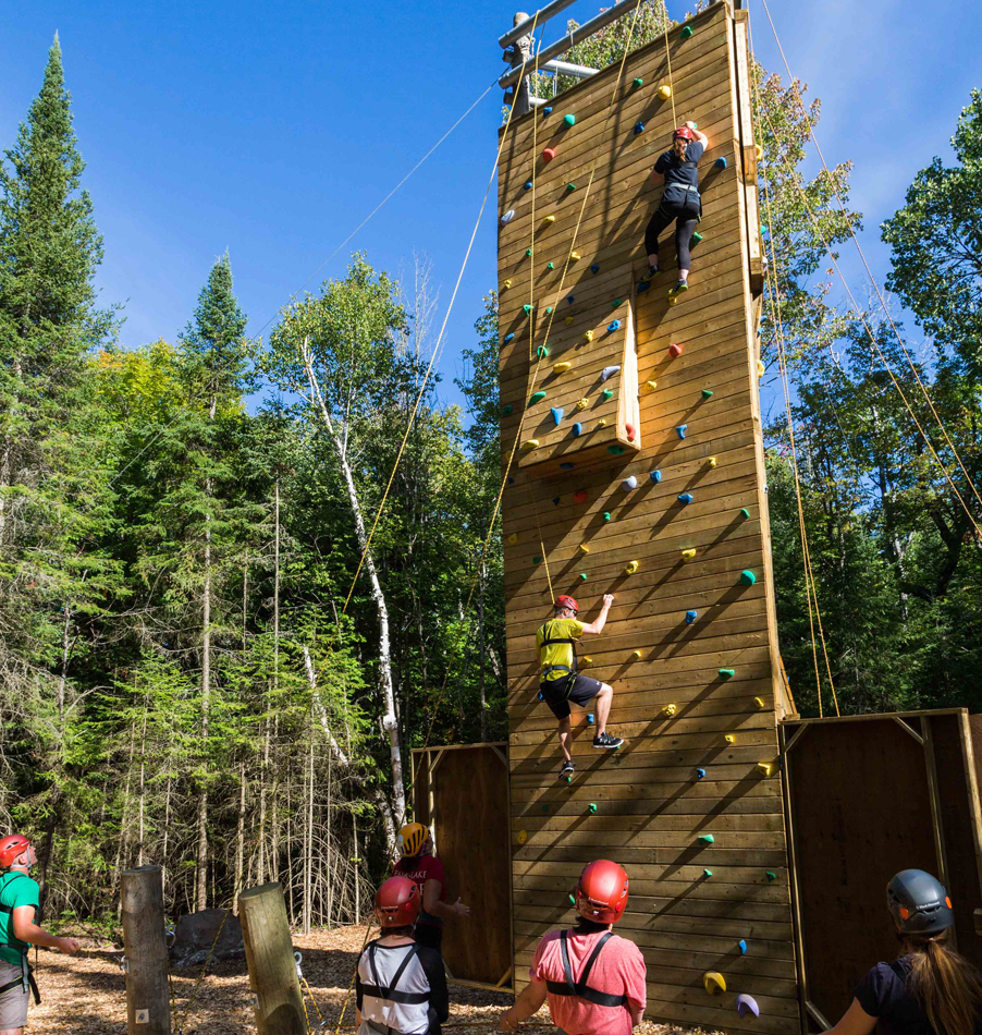 The Climbing Tour Experience at Bark Lake Leadership Centre