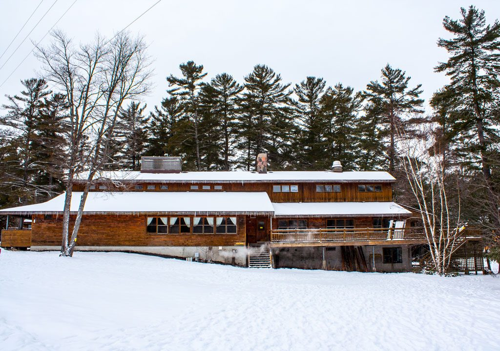 The dining hall at Bark Lake Leadership Centre
