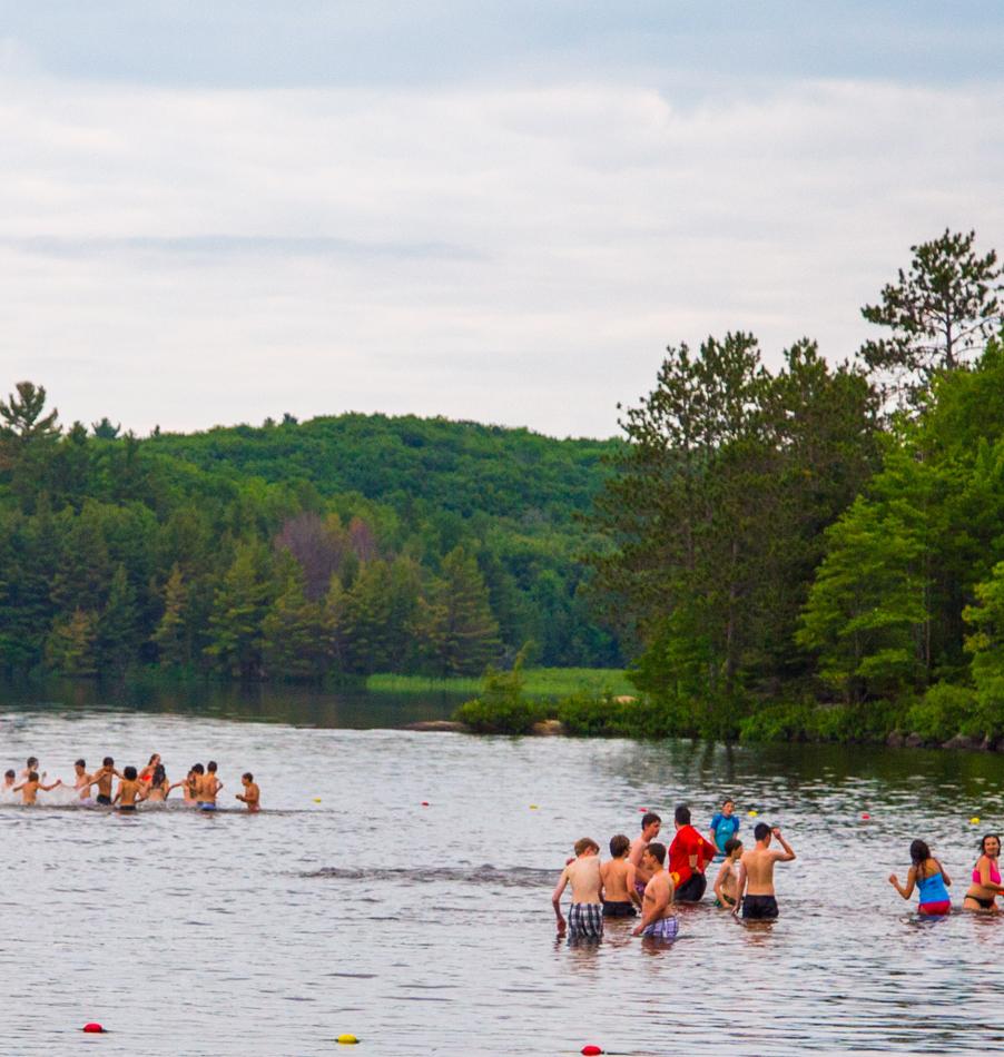Swimming at Bark Lake Leadership Centre