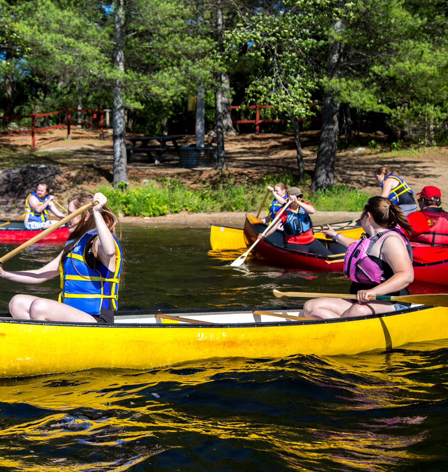 Tandem Canoeing at Bark Lake Leadership Centre