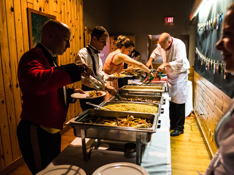 Weddings at Bark Lake Leadership and Conference Centre Food