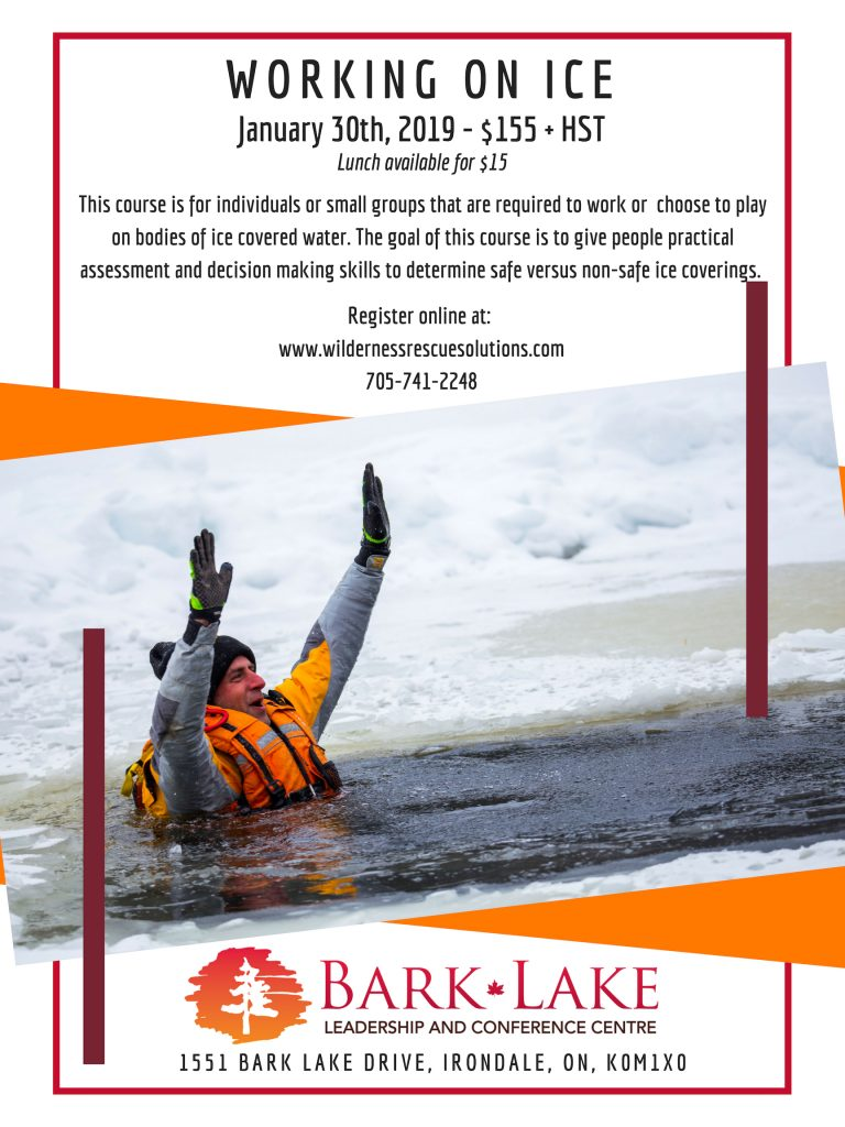 Information about working on ice training course