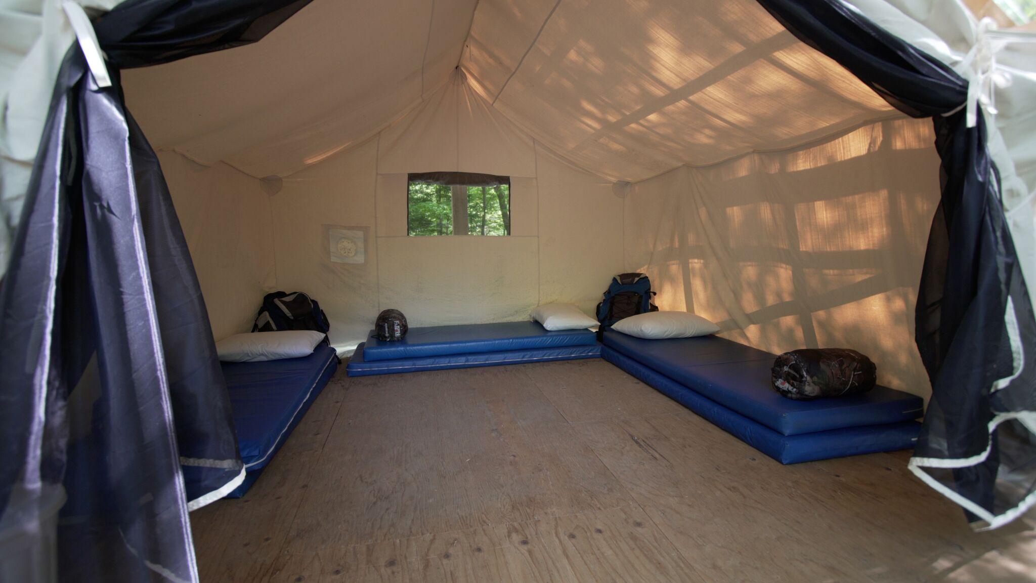 Platform Tent Interior